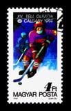 1991个冬季奥运会,卡尔加里, serie,大约1987年 免版税库存照片