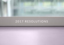 2017个决议 库存照片