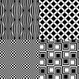 4个减速火箭的黑白色样式传染媒介 免版税库存照片