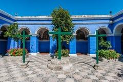 3个十字架圣卡塔利娜修道院阿雷基帕秘鲁 库存图片
