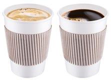 0 8个可用的杯子eps塑料版本白色 免版税图库摄影