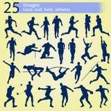 25个图象田径运动员 库存照片