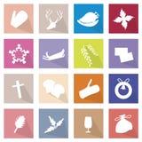 16个圣诞快乐象的例证汇集 免版税图库摄影