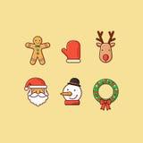2个圣诞节图标 图库摄影