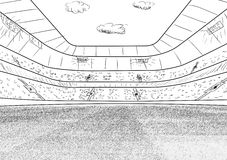 01个城市巴黎足球场 免版税图库摄影
