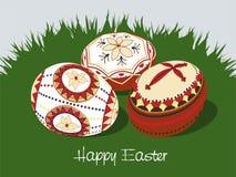 2个复活节彩蛋 库存照片