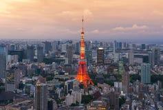 2011个夏天被采取的东京塔 库存图片