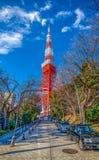2011个夏天被采取的东京塔 图库摄影