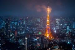 2011个夏天被采取的东京塔 免版税库存图片