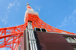 2011个夏天被采取的东京塔 免版税库存照片
