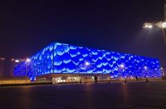 2008个夏季奥运会的国家游泳中心水立方游泳竞争在北京中国 免版税库存照片