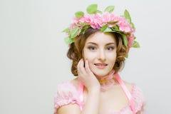 15个妇女年轻人 春天的图象 免版税库存照片