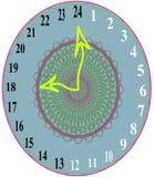 24个小时时间展示时钟1 库存图片