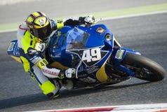 24个小时巴塞罗那摩托车的耐力  免版税库存照片