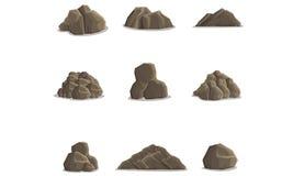 1个岩石 库存图片