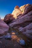 3个峡谷红色岩石 免版税库存照片