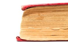 19个年龄背景书老发布的白色 免版税库存图片