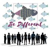 个性独特的另外鱼图表概念 免版税图库摄影