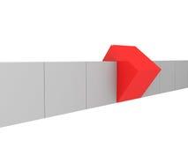 个性- 3d引人注意红色的箱子 库存照片