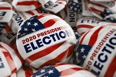2020个总统选举按钮 图库摄影