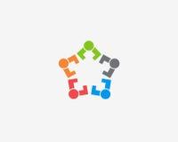 9个手册收集社区设计要素系列图标启发了爱杂志网络人理想的集社会统一性使用网站 库存照片