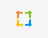 9个手册收集社区设计要素系列图标启发了爱杂志网络人理想的集社会统一性使用网站 库存图片