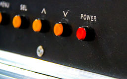 10个按钮eps格式例证次幂向量 免版税库存照片