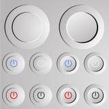 10个按钮eps格式例证次幂向量 库存照片