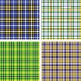 7个收集模式格子花呢披肩无缝的数量 免版税库存图片