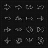 16个新的简单的箭头 库存照片