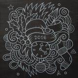 2016个新年乱画元素背景 向量 皇族释放例证