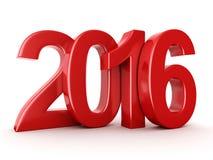 2016个新年数字 图库摄影