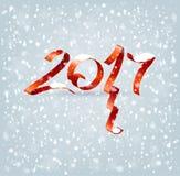 2017个新年 库存例证