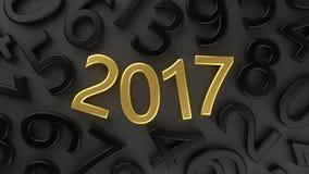 2017个新年 库存照片