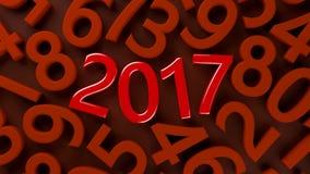 2017个新年 库存图片