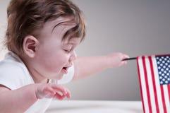 6个月大婴孩画象 库存图片