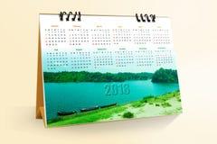 12个月桌面日历设计2018年 免版税图库摄影
