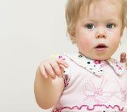 11个月的婴孩的画象。 免版税库存图片