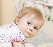 11个月的婴孩的画象。 库存图片