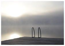 1个有薄雾的早晨 库存图片