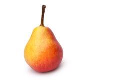整个梨,红黄色 免版税图库摄影