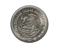 500个比索硬币,墨西哥银行 Reverse, 1987年 库存照片