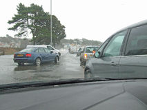 2个沙丘Poole多西特海被破坏的路 免版税库存照片