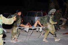 150个法塔赫人在逃离加沙暴力以后进入以色列 免版税库存照片