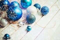 2007个球圣诞节年 免版税库存照片