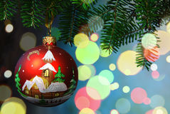 2007个球圣诞节年 免版税图库摄影