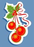 2007个球圣诞节年 皇族释放例证