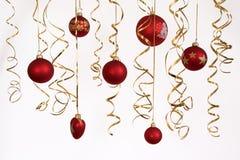2个球圣诞节 库存照片