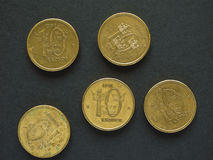 10个瑞典克朗& x28; SEK& x29;硬币 免版税库存图片