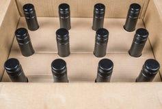 12个瓶盒酒1 免版税库存照片